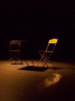 Chaise et table avant filage