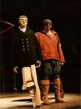 Le capitaine Achab Moby Dick Marionnettes Morisse et compagnie